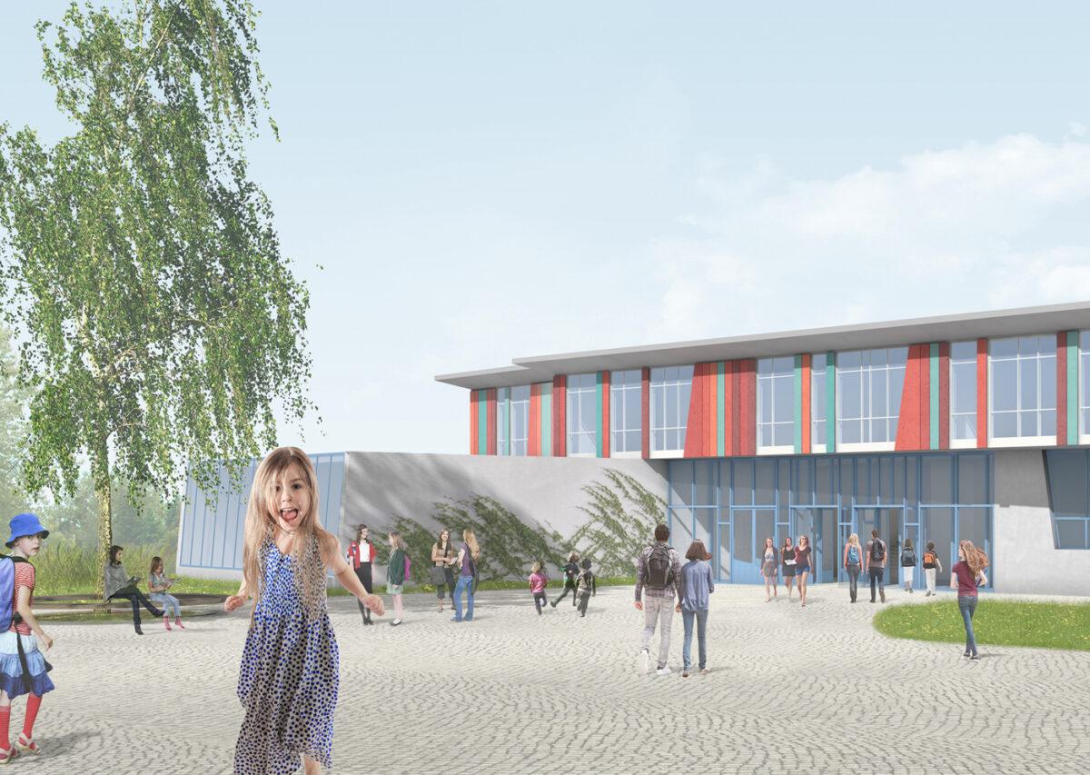 Wettbewerb Waldorfschulzentrum, 1. Preis in Tartu / Estland