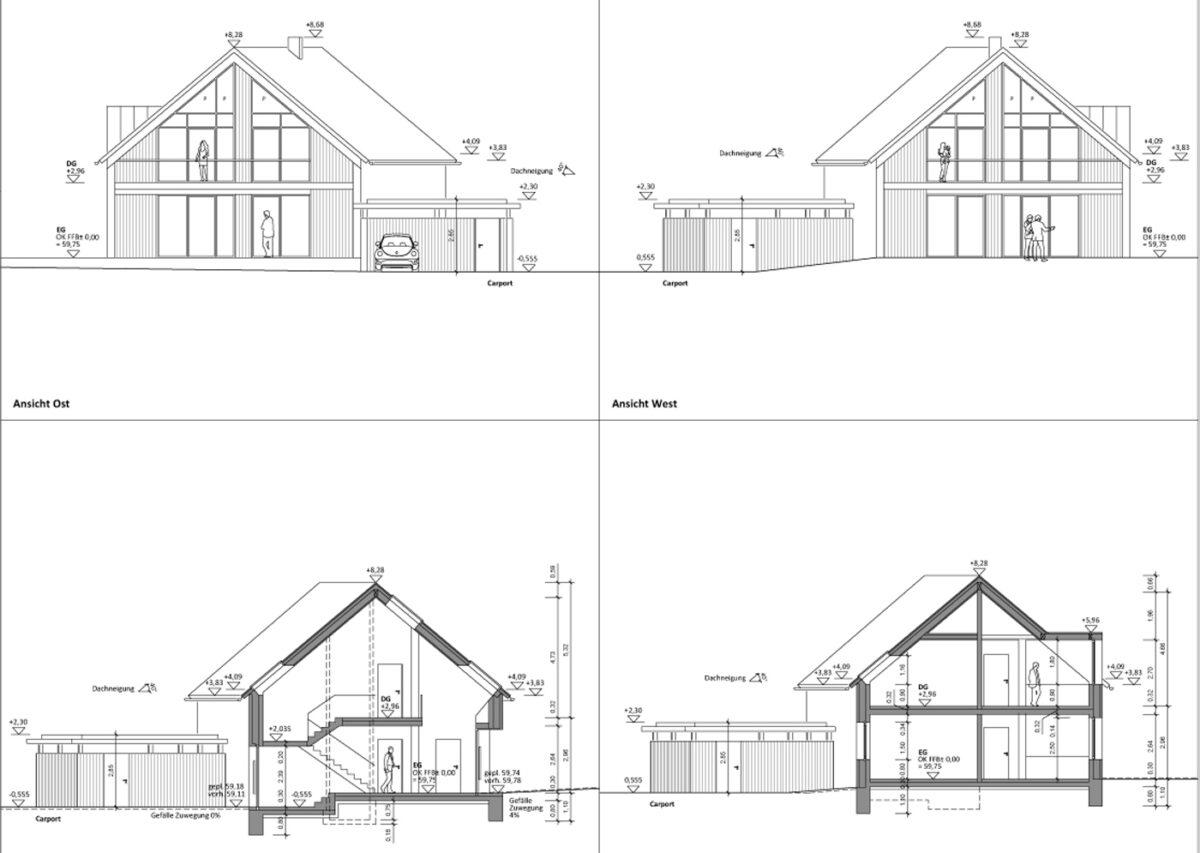 Neubau eines Vierfamilienhauses in Amelinghausen